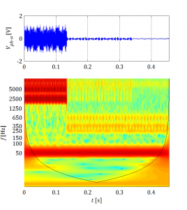 Wavelet transform of EMI